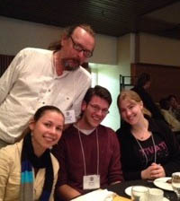 Bee researcher Laurence Packer with his grad students, seated from left, Mariya Cheryomina, Brock Harpur and Nadia Tsvetkov