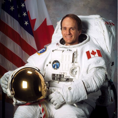 Portrait of Steve McLean in his astronaut suit