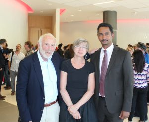 From left, James Simons, Boyana Konforti and Faculty of Science Dean Ray Jayawardhana