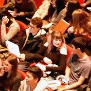 photo of students in the audience