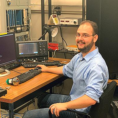 Gabriel Santucci in his lab
