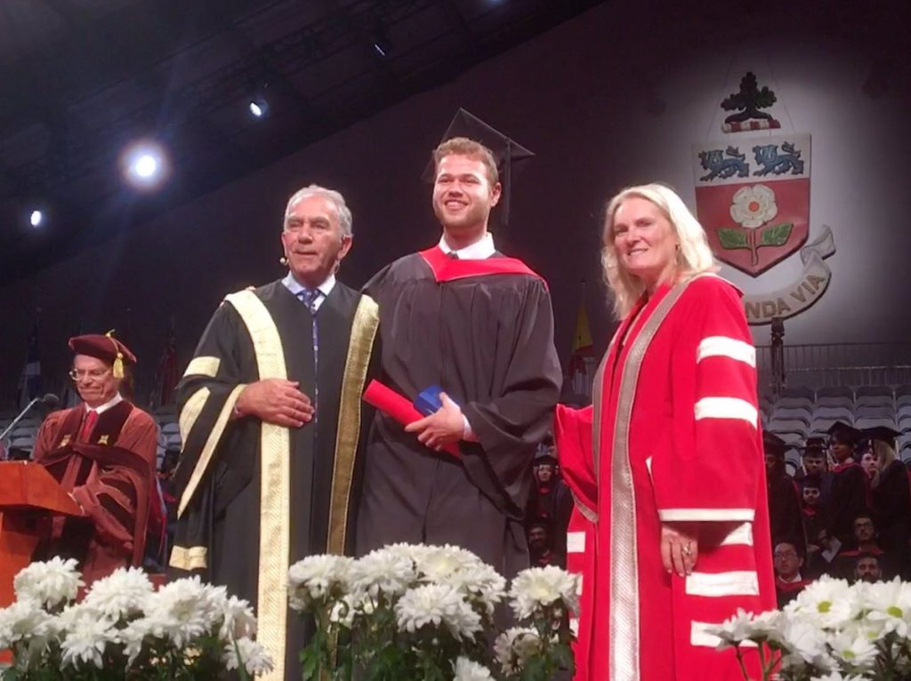 From left, Greg Sorbara, Nicolas Chrobok and Rhonda Lenton