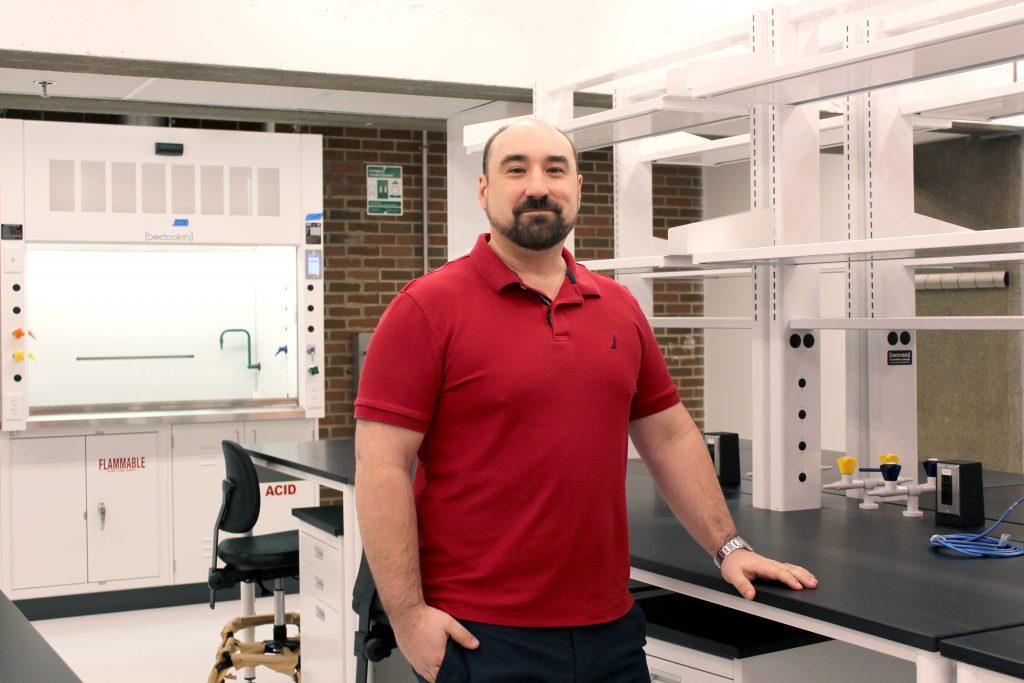 Steven Connor in his lab