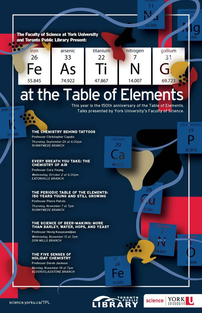 Poster for Feasting at the Table of Elements lecture series